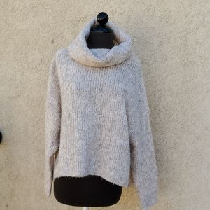 Debut crop cowl neck sweater size small